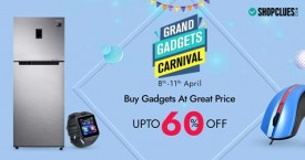 Shopclues Grand Gadgets Carnival : Upto 60% Off (8 Apr to 11 Apr '21)