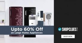 Shopclues Upto 60% Off on TVs, Audio & Large Appliances etc.