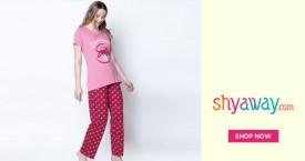 Shyaway Mega Deal :Buy 2 @ Rs.1499  Print Nightwear Pyjama