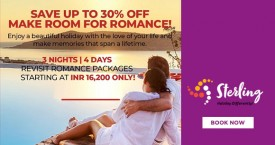 Sterlingholidays Special Offer : Get Upto 30% Discount on Romantic Packages