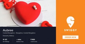 Swiggy Free Delivery on orders above Rs. 99, 15% OFF on all orders Upto Rs. 75 At Aubree