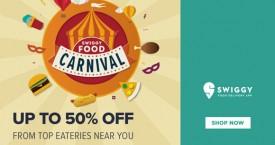 Swiggy Upto 50% Off on Swiggy Food Carnival.
