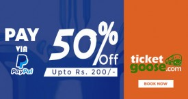 Ticketgoose Paypal Offer : Get 50% Instant Cashback Upto Rs. 200