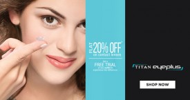 Titan eyeplus Get 25% OFF on Your Contact Lens Annual Subscription