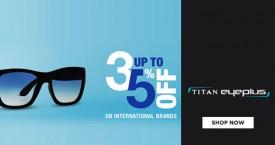Titan eyeplus International Brand Sunglasses - Upto 35% OFF