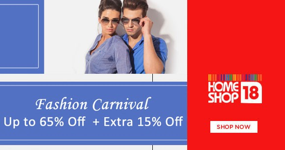 Fashion Carnival : Upto 65% OFF on Men's & Women's Clothing