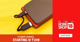 Homeshop18 Hot Deal : Power Banks Starting From Rs. 249