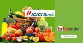 Bigbasket ICICI Bank Offer : Flat 20% OFF on Rs. 500 (New User)