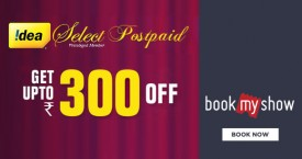 Bookmyshow Idea Postpaid Entertainment Offer : Get Upto Rs. 300 OFF