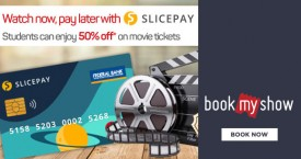 Bookmyshow Slice Pay Student Offer : Enjoy 50% OFF on Movie Tickets