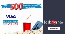 Bookmyshow Visa Card Offer : Get Upto Rs.300 OFF on Movies & Rs.200 OFF on F&B With Visa Signature Cards