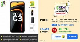 Flipkart Super-Deal : Rs. 8,499 Only (-22%) for POCO C3 - 4GB RAM, 64 GB ROM