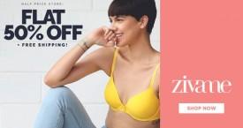 Zivame Big Sale : Get Flat 50% OFF + Free Shipping
