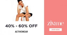Zivame Best Offer : Activewear 40-60% Off