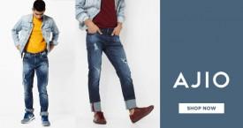 Ajio Best Deal : Men's Jeans Upto 50% OFF
