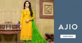 Ajio Hot Deal : Upto 60% OFF on Women's Dress Materials