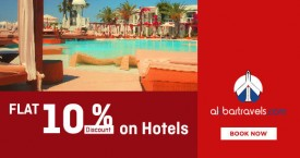 Akbartravels Special Offer : Flat 10% OFF on Hotels