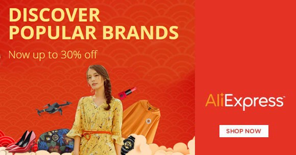 Aliexpress Sale : Upto 30% OFF on Popular Brands