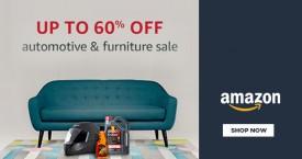 Amazon Upto 60% OFF on Furniture & Automotives.