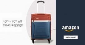Amazon 40% - 70% OFF on Travel Luggage