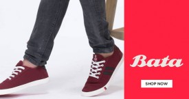 Bata Flat 20% Off on Men Casual Shoes on Min. Purchase of Rs. 1499 & above