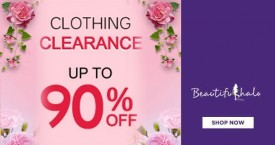 Beautifulhalo Clearance Sale : Upto 90% Off on Clothings