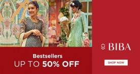 Biba Special Offers: Upto 50% OFF on Best Sellers Tops, Suit set, Short Kurtas