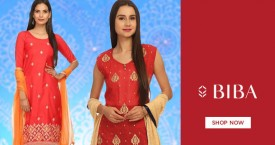 Biba Upto 60% Off on Easy Stitch Embroidered Suit Set From Rs. 999