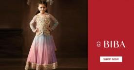 Biba Girls Mix Match New Arrivals Anarkali & Flared Cotton Dress - Upto 50% OFF