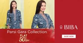 Biba Best Discounts : Parsi gara Collections for Skirt, Duppata, Chruridar