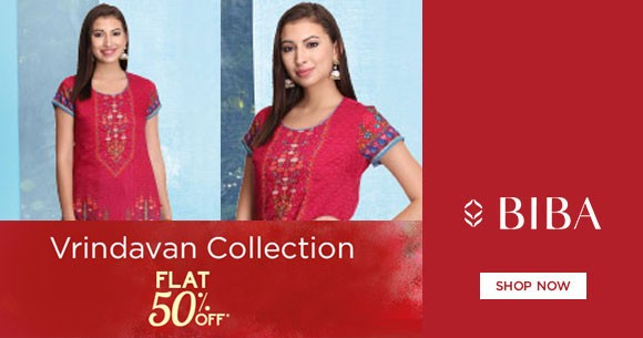 Biba Deals : Upto 50% OFF on Vrindavan Kurtas, Churidar Collections