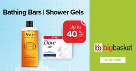Bigbasket Bigbasket Deal : Upto 40% OFF on Bathing Bars & Shower Gels