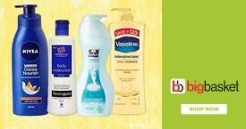 Bigbasket Best Deal : Upto 20% OFF on Creams, Lotions & Lip Balms