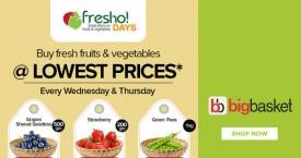Bigbasket Bigbasket Offer : Buy Fruits & Vegetables @ Lowest Price ( Wednesday & Thursday)