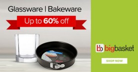 Bigbasket Bigbasket Special Offer : Glassware & Bakeware Upto 60% OFF