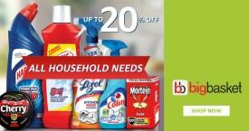Bigbasket Bigbasket Offer : Upto 20% OFF on Household Needs