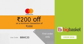 Bigbasket Mastercard Offer : Grab Rs 250 OFF on Orders Of Rs. 1000 & Above