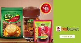 Bigbasket Best Deal : Upto 45% OFF on Tea & Coffee At Bigbasket
