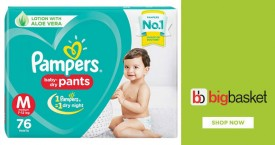 Bigbasket Baby Care - Upto 50% Off on Daipers, Nappies, Hygiene etc.