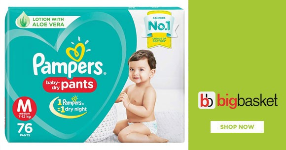 Baby Care - Upto 50% Off on Daipers, Nappies, Hygiene etc.