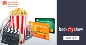 Bookmyshow Bank Of Baroda Mastercard Debit Card Offer : Get Rs. 150 on First Transaction
