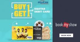 Bookmyshow Equitas Buy 1 Get 1 Debit Card Offer