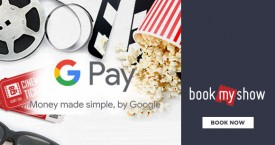 Bookmyshow Google Pay Offer : Earn Assured Rewards Upto Rs. 300 For Tickets Worth Rs. 300 or More