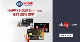 Bookmyshow Kotak Bank Happy Hours Offer