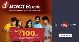 Bookmyshow Get Rs. 100 OFF on ICICI Bank Credit Card