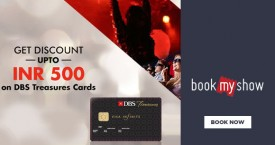 Bookmyshow DBS Treasures Cards - Upto Rs. 500 OFF