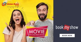 Bookmyshow Union Bank Debit & Credit Offer : Get Upto Rs. 100 OFF on Movie Tickets