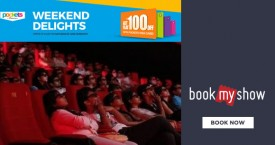 Bookmyshow BMS Weekend Delights : Get Flat Rs.100 OFF With Pockets Visa Card (Saturdays & Sundays)