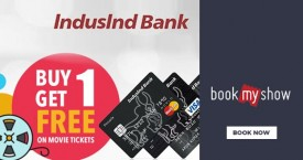 Bookmyshow Induslnd Credit Card Offer - Buy 1 Get 1 Free on Movie Ticket