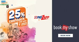 Bookmyshow BMS Payzapp Offer: Get Upto 25% Cashback On Pro Kabbadi League Tickets